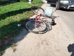В Брянске произошло десятое с начала осени ДТП с пострадавшим велосипедистом