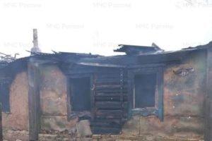 В Брасовском районе сгорел дом, в огне погиб пожилой мужчина