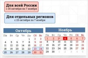 Президенту России предложено ввести нерабочие дни с 30 октября по 7 ноября