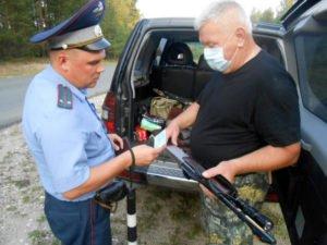 С началом охоты на копытных брянская полиция вышла «поохотиться» на нарушителей